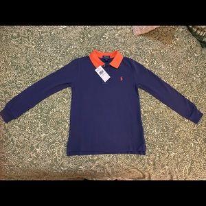 ✨Brand new🌟 Blue/orange long sleeve Polo